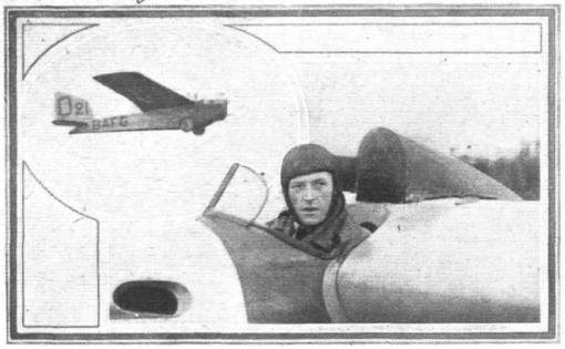 "Victor Simonet in de zwever Poncelet ""Castar"" (1923)"
