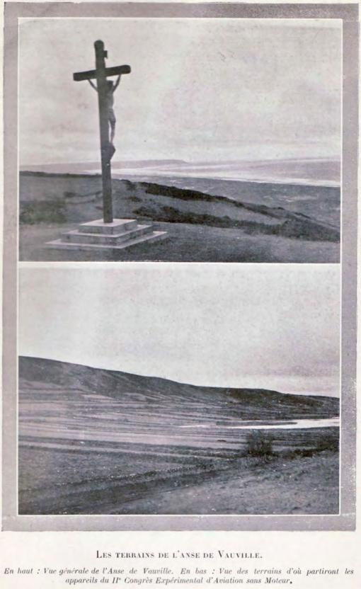 Frankrijk: nadien gaan de Fransen op zoek naar een betere locatie. De duinen en krijtrotsen van Vauville, nabij Cherbourg, lijken te voldoen aan de gestelde eisen. Begin 1923 installeren Maneyrol en Peyret er zich in een tentje. Op 29 januari slagen zij er in een vlucht van meer dan 8 uur te maken (gedeeltelijk 's nachts). Na dit bewijs van geschiktheid beslist de AFA om er van 6 tot 26 augustus 1923 haar tweede internationale experimentele meeting te organiseren voor zwevers en lichte motorvliegtuigen.