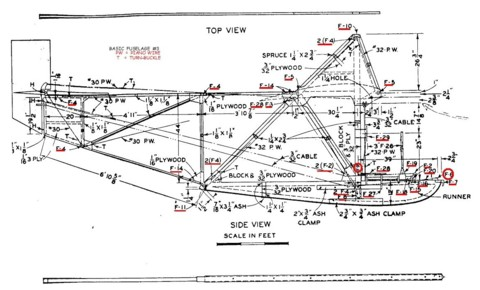 Deel bouwplan Northrup primary glider