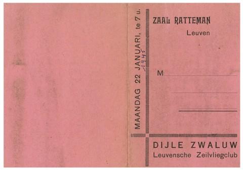 """Er waren dringend centen nodig. Derhalve besloot men een dansavond te organiseren: deze vond plaats op maandag 22 januari in zaal Ratteman, gelegen in de Parijsstraat waar nu de Rattemanspoort is. Een zeskoppige band speelde """"Hot Club"""" jazz."""