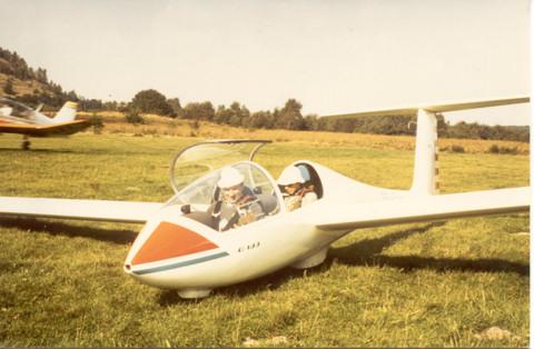 Jan Sevenants in de Twin OO-ZUS, 30 september 1981, Zwartberg