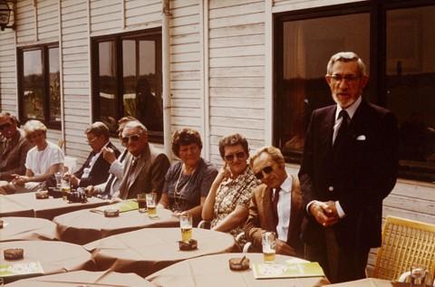 Viering 25 jaar LUAC (Zwartberg 16 juni 1984). Van rechts naar links: Rik De Meulder, Rik Verbeeck, Pierre Leunis