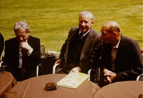 Viering 25 jaar LUAC (Zwartberg 16 juni 1984). V.l.n.r.: Pol Vandermeulen, Jan Sevenants, Marcel Sempels