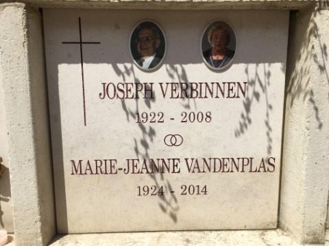 Graf van Jos Verbinnen (begraafplaats Leuven, 2020)