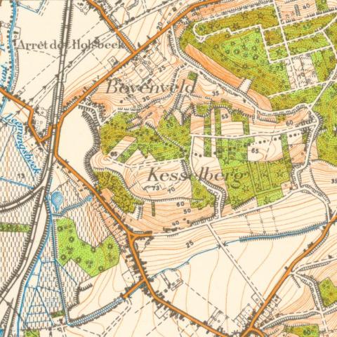 De Kesselberg te Leuven (stafkaart van de jaren '30)