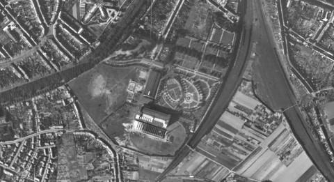 Toestand van het terrein in 1947