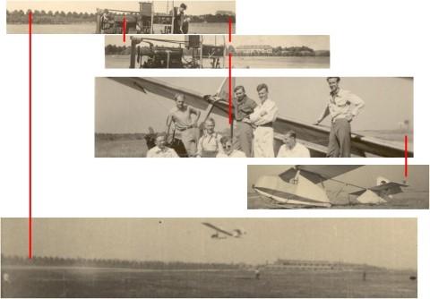 Militair oefenterrein in Heverlee in de jaren '40 - foto's richting WNW
